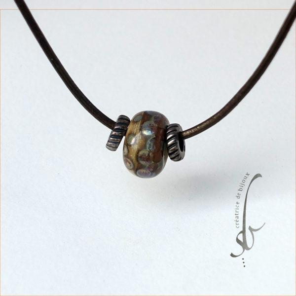 Perle verre de Murano sb creatrice de bijoux bronze ivoire