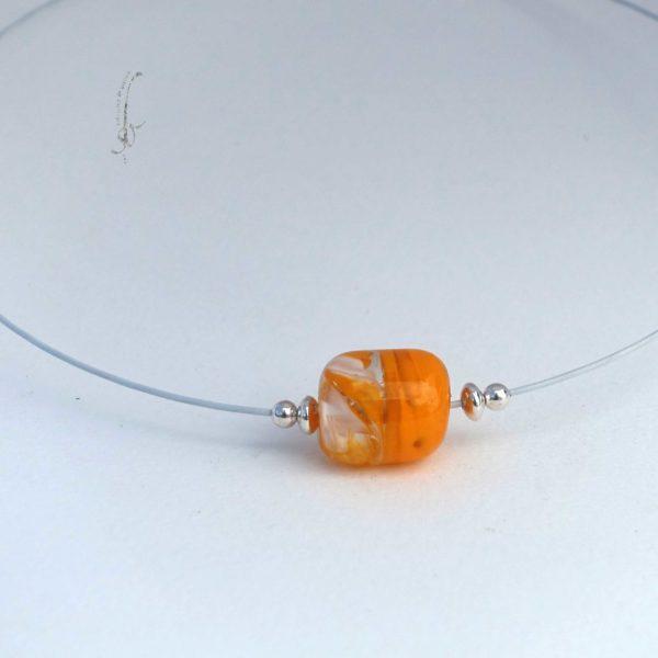 Perle de murano bi colore