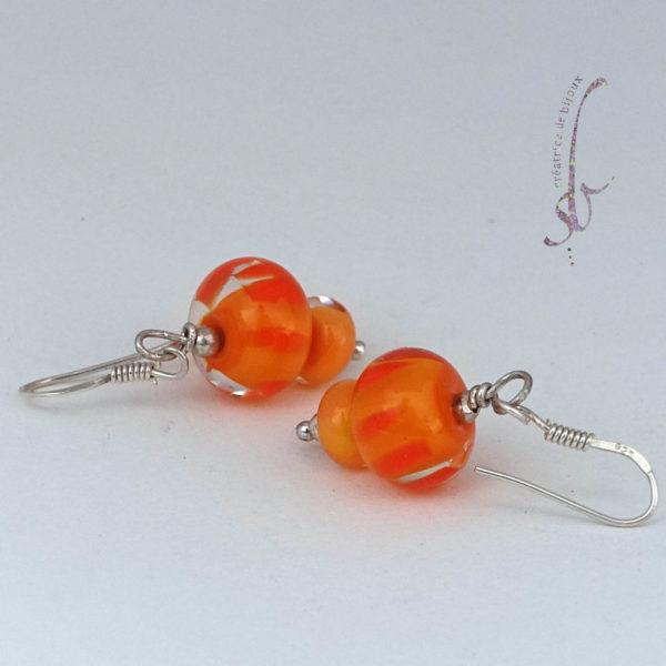 verre de murano orange